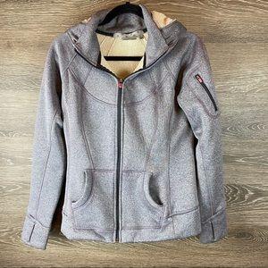 Athleta Grey Zip Up Hoodie Jacket